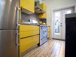stunning yellow kitchen cabinet in home decor concept with yellow