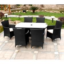 indoor wicker dining table garden in backyard feat black and white rattan dining sets on tiled