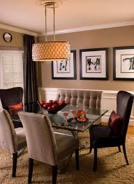 transitional dining chairs dining room contemporary with brown