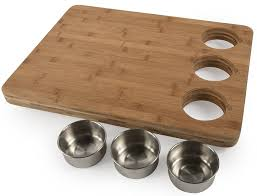 amazon com core bamboo pro chef butchers block with prep bowls