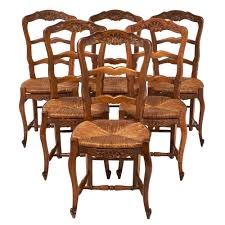 french antique wicker and wood dining chairs jean marc fray