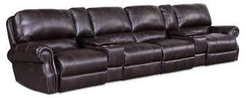 Leather Reclining Sofa 4 Seat Leather Reclining Sofa U2013 Stjames Me