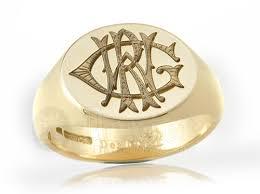 Monogram Rings Gold Monogram Rings