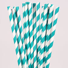 paper straws teal white striped paper straws pipii
