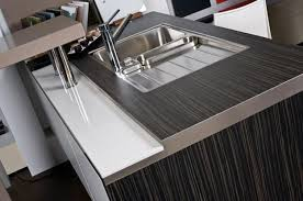 modern kitchen countertop ideas stylish metal kitchen countertop ideas giving industrial look to