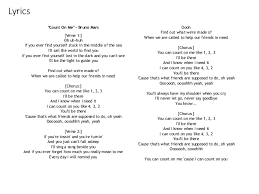 I Can Count On You Bruno Mars Lyric Analysis