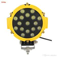 Red Led Light Bars by Sale 6 3 Inch Epistar 51w Led Work Light Black Yellow Red For