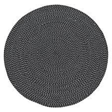 White Cotton Rug Foster Round Black And White Cotton Rug D150cm Buy Now At