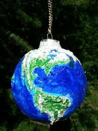 paper mache world globe earth ornament