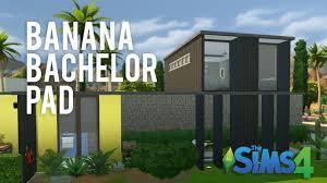 the sims 4 speed build u2014 banana bachelor pad youtube