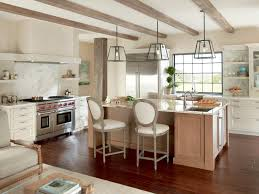 Decorative Beams Crib Skirts In Kitchen Transitional With Oven Vent Next To