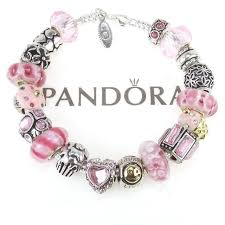 pandora silver bracelet with charms images Pandora bracelet with european charms collection on ebay jpg