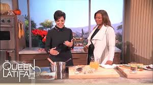 Kris Jenner Kitchen by Kris Jenner Cooks Up A Sentimental Meal The Queen Latifah Show