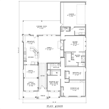 one story 4 bedroom house plans open floor home design plans
