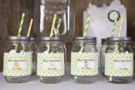 safari baby shower favors safari themed baby shower ideas clear glass jar with metal tin and