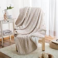 plaid canapé plaid pour canapé réversible en tricot couverture jeté de sofa lit