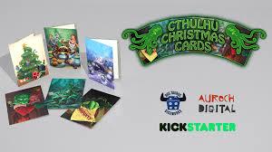 christmas cards photo cthulhu christmas cards by auroch digital kickstarter