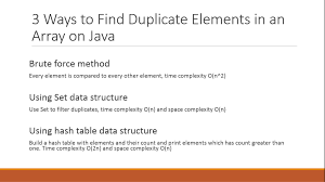 Ruby Hash Map 3 Ways To Find Duplicate Elements In An Array Java