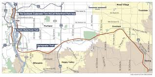 Boring Oregon Map by Springwater Corridor Creates Tension Over Its Use Recreation Or