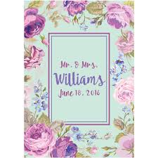 light blue u0026 purple flower and name wedding wine labels u2013 liquid