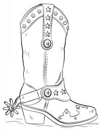 the awesome cowboy boot coloring page to really encourage in