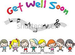 kids get well soon get well soon stock vector 729734164