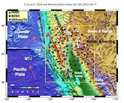 San Andreas Map Rice Earth Environmental U0026 Planetary Sciences Making The San