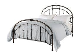 bedroom gorgeous graceful lines victorian iron metal bed