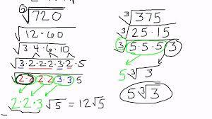 simplifying radicals non perfect squares u0026 non perfect cubes