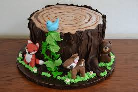 Baby Woodland Animals Baby Shower - woodland animal baby shower cake cakecentral com