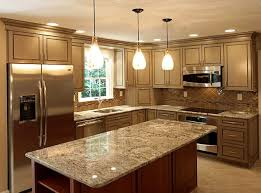 bright and lovely pendant lights hung over kitchen island home