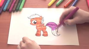 my little pony new coloring pages for kids colors scootaloo