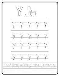trace the uppercase letter y worksheet for preschool uppercase