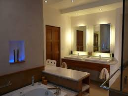 Bathroom Lights Ideas by Bathroom Lighting Ideas Double Vanity White Ceramic Bath Tub With