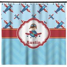 Airplane Shower Curtain Personalized Shower Curtains Youcustomizeit