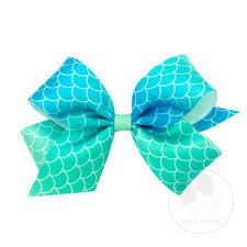 mermaid ribbon medium satin mermaid scale bow