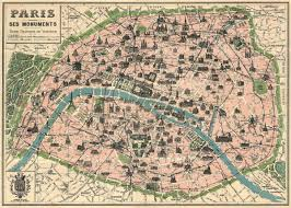 Vintage Maps Amazon Com Vintage Paris Map Monuments Poster By Cavallini U0026 Co
