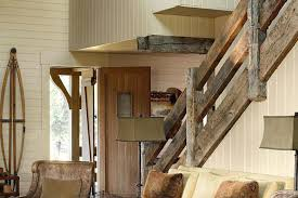 rustic stair railing stairs railings pine interior loft staircase