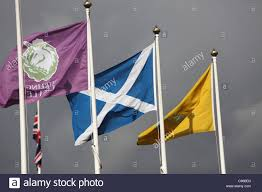 Scotland Flags City Of Stirling Scotland Flags Flying Above Stirling Castle