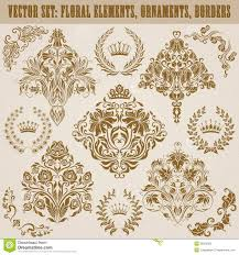 set of vector damask ornaments royalty free stock images image