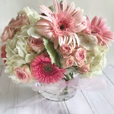 white flower centerpieces pink and white flower arrangement how to make a baby arrangement