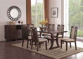 espresso dining room sets f1380 espresso dining chair set of 2 by poundex