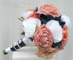 navy blue and white striped ribbon 21 best navy coral images on wedding bouquets