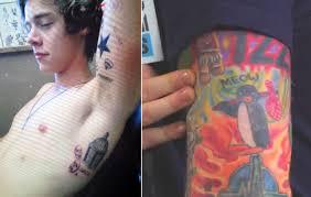 harry styles u0026 ed sheeran tattoo artist reveals why the singers