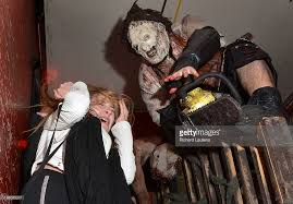 Texas Chainsaw Massacre Halloween Costume Screamers Haunted House Pictures Getty Images