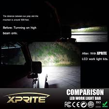 led light bar comparison amazon com xprite c4 series single row noisy free 24 inch 100w 20