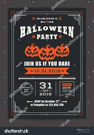 halloween night party scary pumpkins design stock vector 485101804