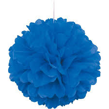 royal blue tissue paper tissue paper pom pom 16 in royal blue 1ct walmart