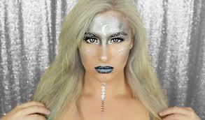 halloween makeup tutorial luna moon goddess youtube