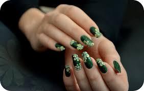 3d green acrylic nails by tartofraises on deviantart